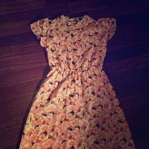 Vintage Rose Dress. Medium. Sheer.